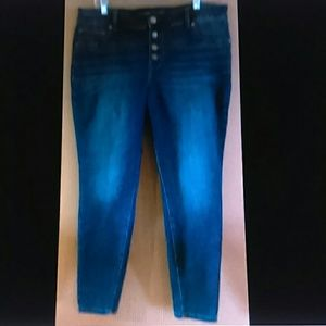 Maurices Jeans Women's size 18 W high rise skinny